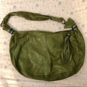 BCBGMAXAZRIA Green Leather Shoulder Bag